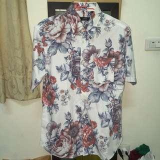 男生夏威夷襯衫  古著 澳洲製 版型很挺