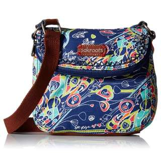 Sakroots Artist Circle Mini Foldover Body Messenger Bag