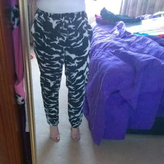 Peter Morrissey Zebra Print Pants