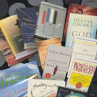 Brand New Books For Sale: Robin Sharma, Murakami, Deepak Chopra, Malcolm Gladwell And Scott Peck