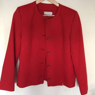 Vintage Red Jacket Size 10