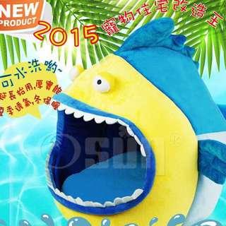 鯊魚造型寵物窩