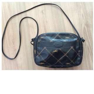 Vintage Longchamp leather cross body bag - Authentic