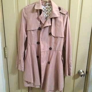 風衣外套 粉色