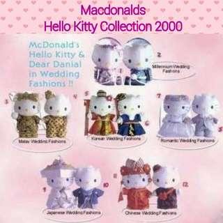 Macdonalds Mac Hello Kitty Collection 2000 Wedding Plushies / Decor