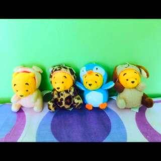 Winnie The Pooh Mini Plush Keychain