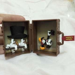 迪士尼 扭蛋 場景旅行箱 零售 米奇 Mickey