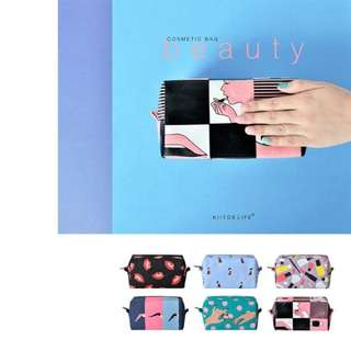 HUNG :: BEAUTY方形帆布化妝包收納包手拿包kiitos