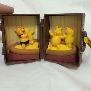 迪士尼 扭蛋 場景旅行箱 零售 小熊維尼