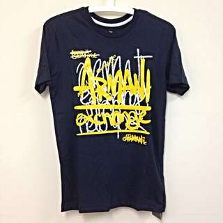 AX 男版短袖T恤(深藍)