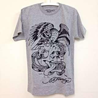 Ed Hardy 男版短袖T恤(灰)