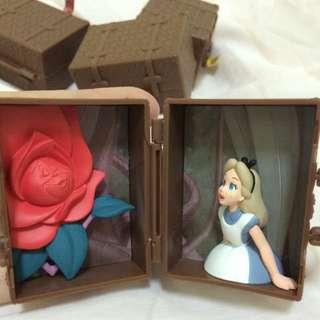 迪士尼 扭蛋 場景旅行箱 零售 愛麗絲夢遊仙境 Alice