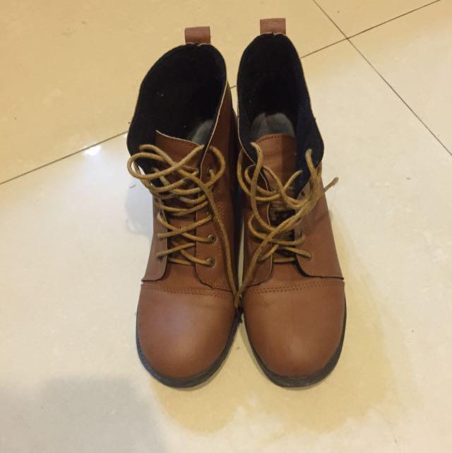 復古有根厚底鞋