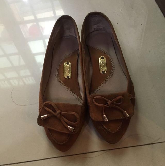 尖頭麋皮鞋(正韓)
