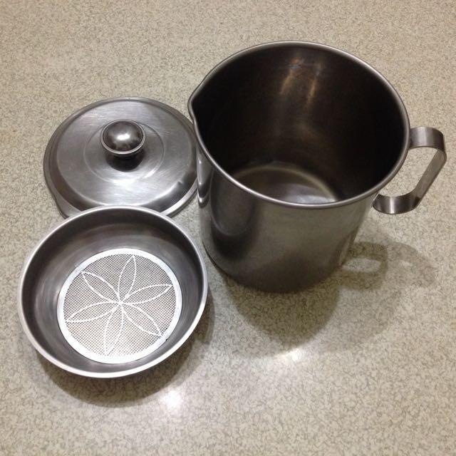 不鏽鋼瀝油杯具