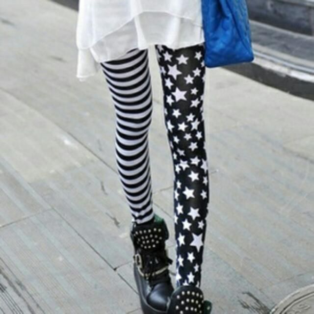 條紋星星內搭褲