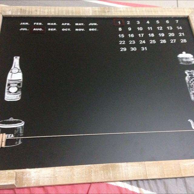 生活工場購入  多功能月曆小黑板(附袋子)