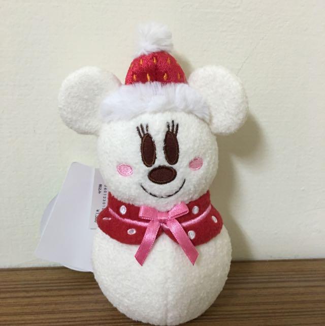 迪士尼 聖誕米妮雪人 娃娃