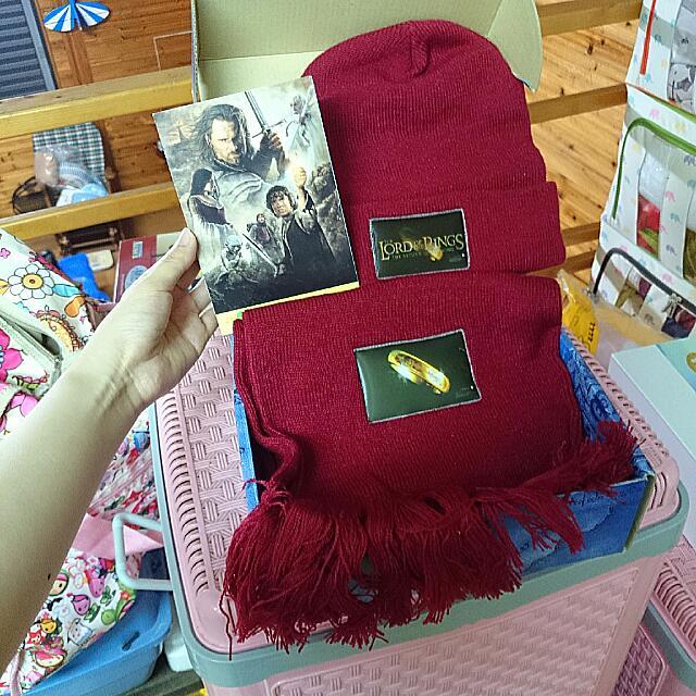 魔戒 * 毛線帽+圍巾+手套組
