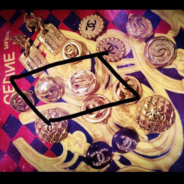 Chanel復古夾式珍珠耳環