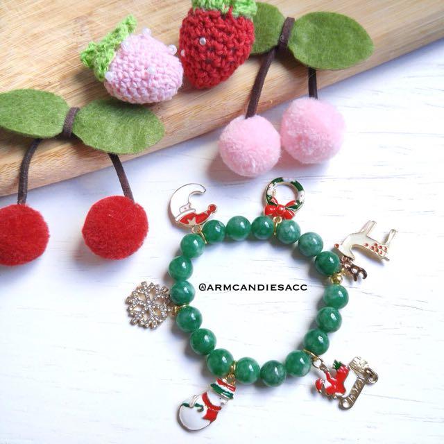 Green Christmas Bracelet
