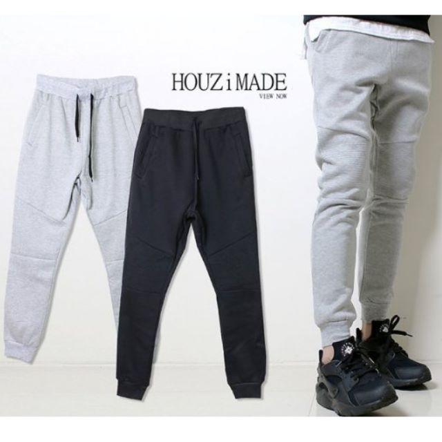 【HOUZi限定款】 內刷毛 高質感縮口棉褲【M0047】