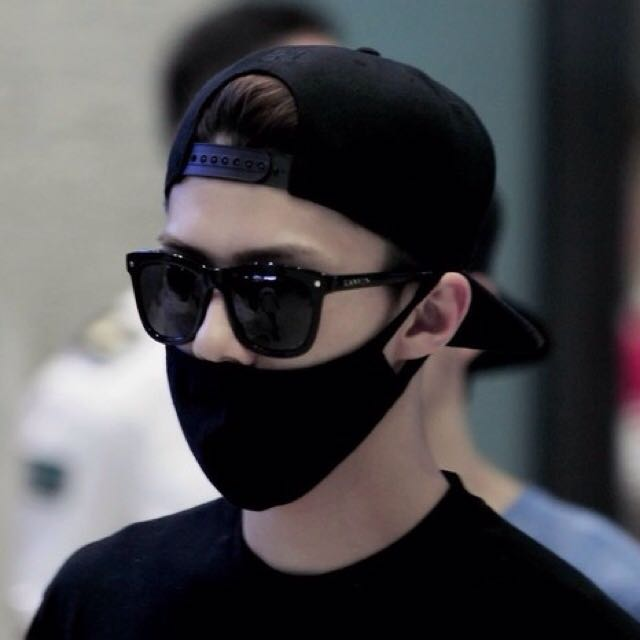 koreanstyle black mouth mask entertainment kwave on