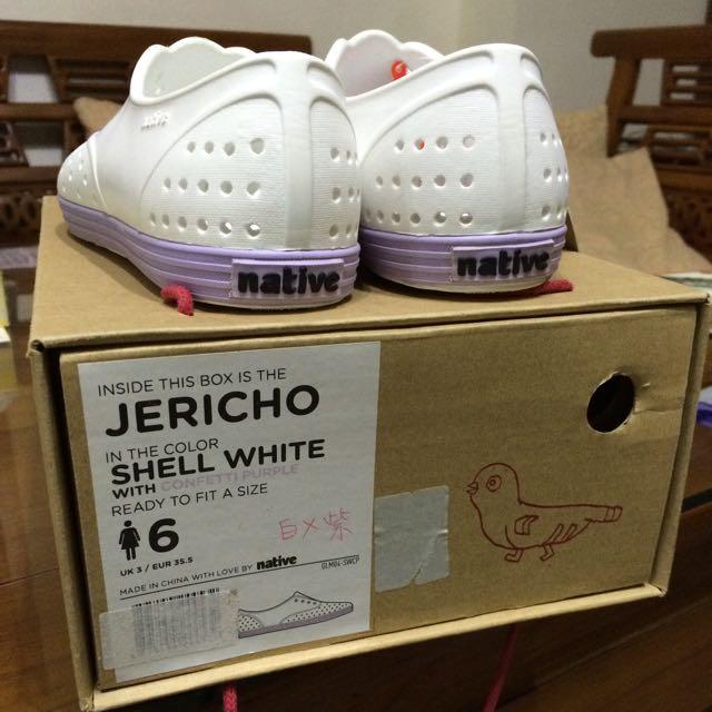 (保留中)全新-native鞋~白/紫