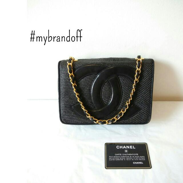 Preowned Chanel Vintage Big Logo Classic Mini Sling Bag Luxury