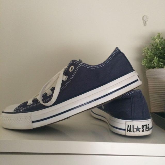 Size 8 Navy Blue Chucks