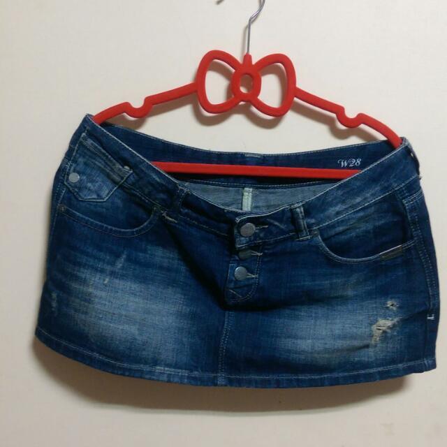 Superdry女生刷舊牛仔短裙