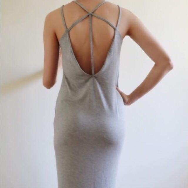Unique Open Back Maxi Dress