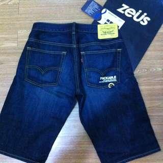 Levi's 綠拉鍊 牛仔短褲 503 黃標黃扣 28