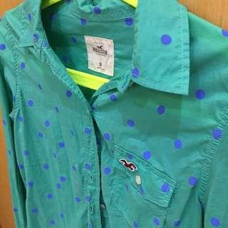 (保留)Hollister長袖襯衫,免運!