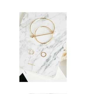 歐美韓系極簡珍珠手環#孔孝貞同款