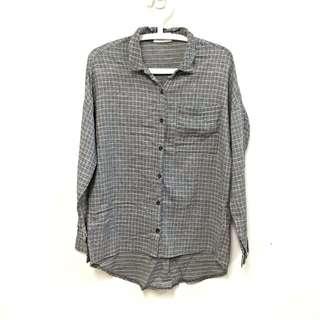 寬版 灰襯衫