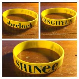 SHINEE Sherlock Jonghyun Wristband