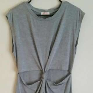 Grey Cut Out Dress - Cleanout Everything must Go!!