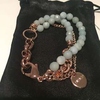 Mimco Bracelet Rosegold and Tiffany Blue