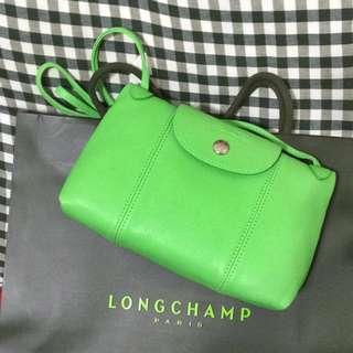 Lonchamp 淺綠色小羊皮小包