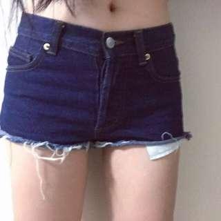 中腰深藍牛仔褲