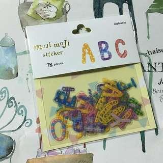可愛的日本貼紙~字母款