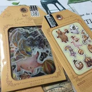 日本馬戲團~燙金貼紙