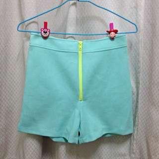 含運 全新 Tiffany綠撞色高腰褲