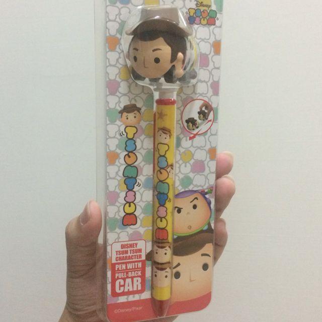 【現貨】 迪士尼tsumtsum廻力車筆系列-胡迪