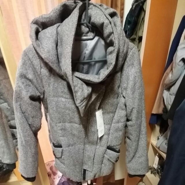 連帽舖棉外套