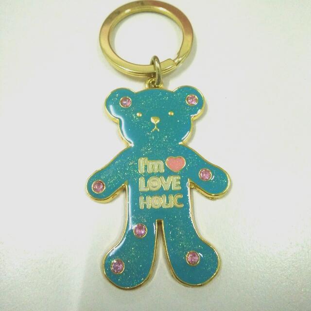 蒂芬妮綠小熊鑰匙圈