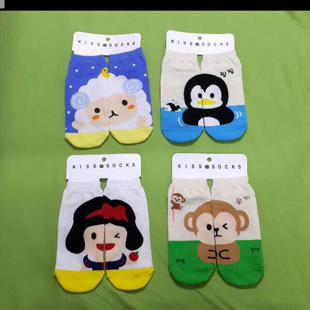 韓國可愛卡通造型襪子(綿羊,企鵝,白雪公主,猴子)