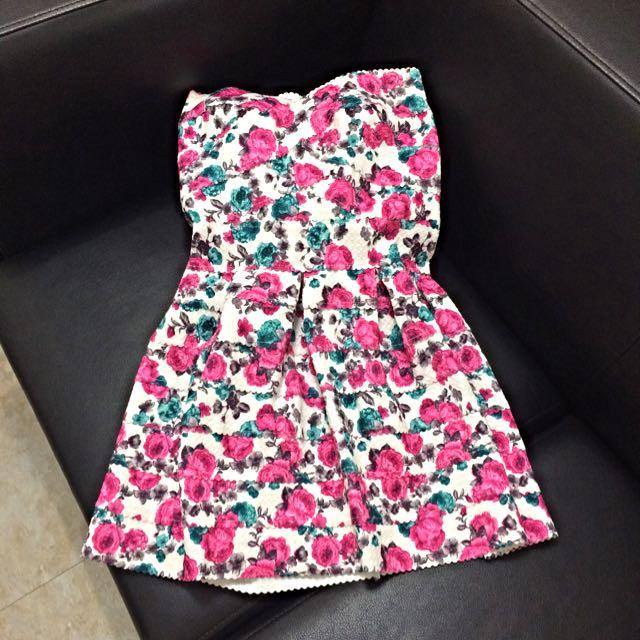 二手 薔薇繃帶俏麗小洋裝