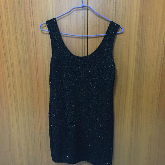 黑色閃亮內襯裙 也可單穿